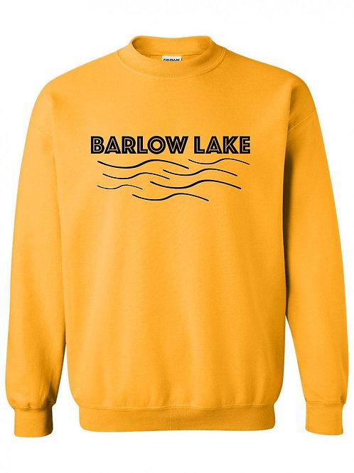 Barlow Lake Black Wave Crewneck