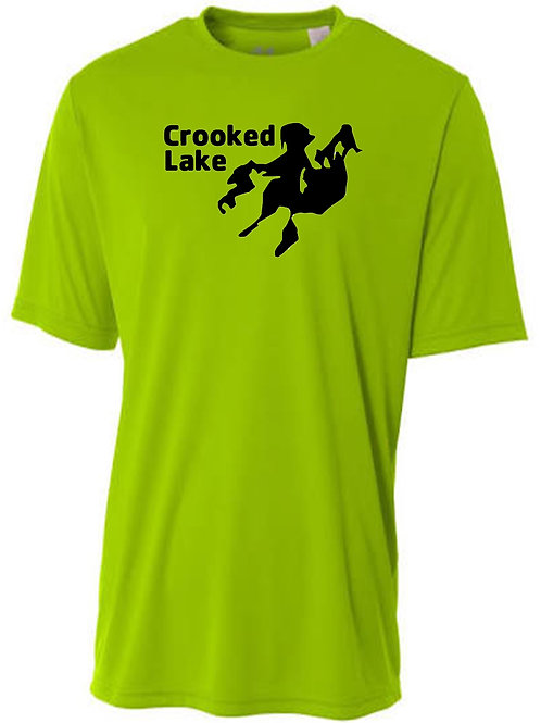 Crooked Lake Black Logo Sun Tee