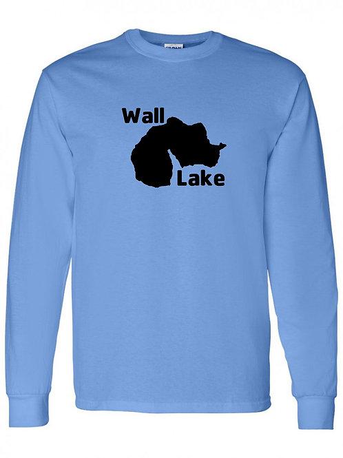 Wall Lake Black Logo Long Sleeve