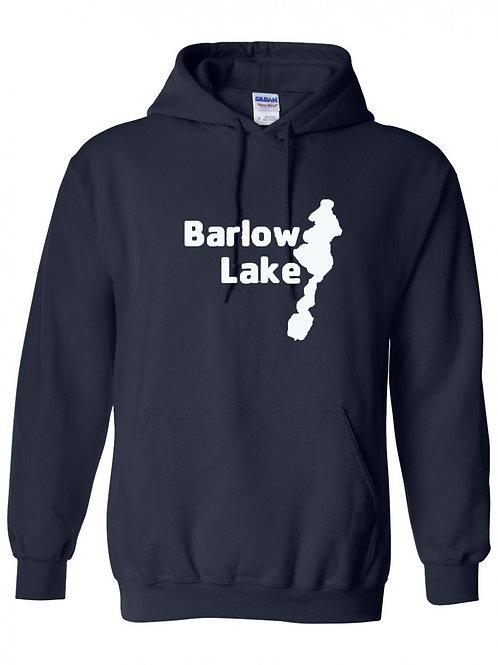 Barlow Lake White Logo Hoodie