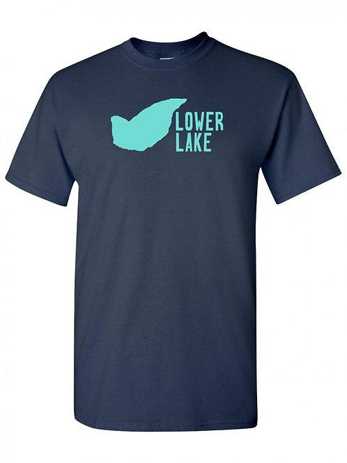 Lower Lake Teal Logo T-Shirt