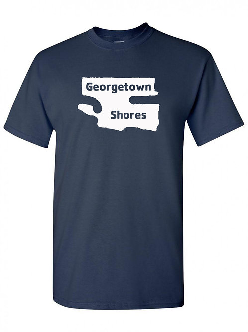 Georgetown Shores White Logo T-Shirt