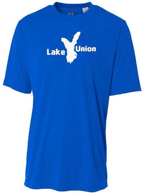 Lake Union White Logo Sun Tee