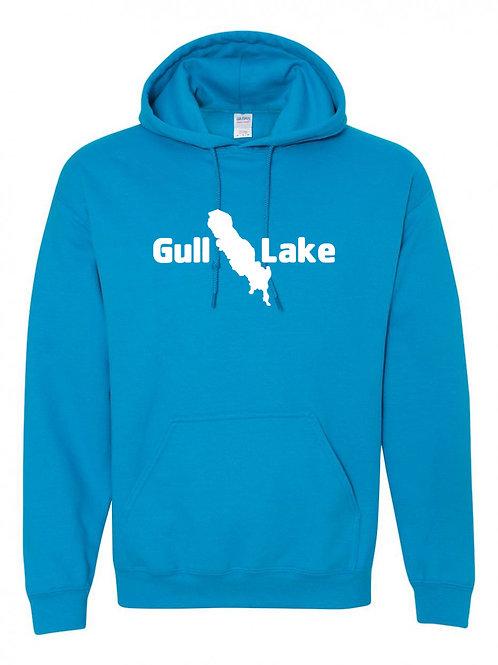 Gull Lake White Logo Hoodie