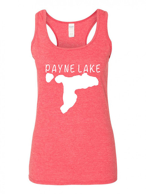 Payne Lake White Logo Ladies Tank Top