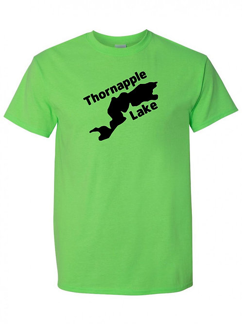Thornapple Lake Black Logo T-Shirt