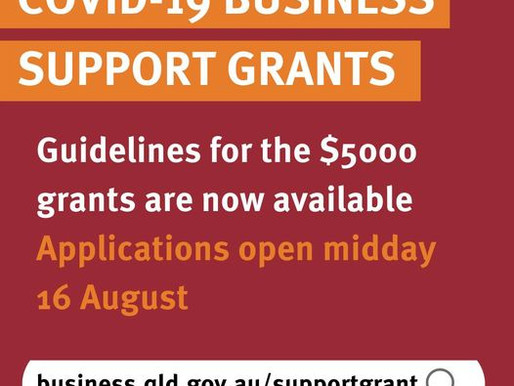 2021 COVID-19 QLD Business Support Grants for Lockdown-impacted businesses in Queensland
