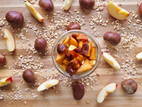 PorridgeBike: Maroni-Apfel Overnight-Oats