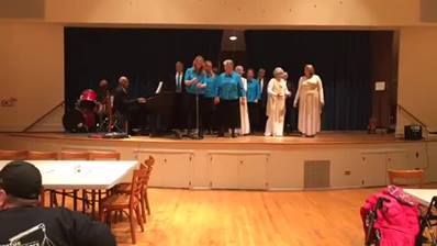 The York County Gospel choir is singing at our community dinner tonight.  What a joyful noise to the Lord! Thank you for sharing your gifts with us.