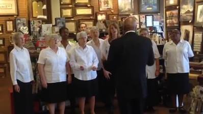 We are blessed to have the York County Gospel Choir singing and praying with us today.