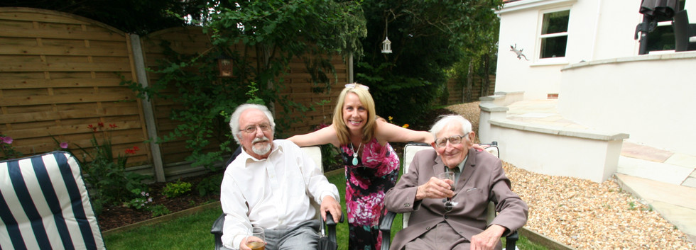 Archie Campbell –Murdoch and Alan Taylor ( Both RIP ) AT a President's Sunday with Bernie
