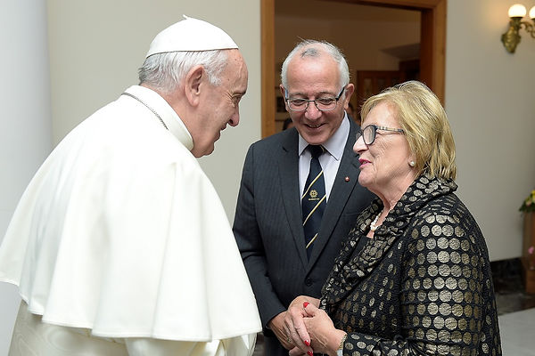 Pope Francis with J & J Falzon(r).jpg