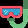 Masque de plongée corrcteur et lunettes de piscine
