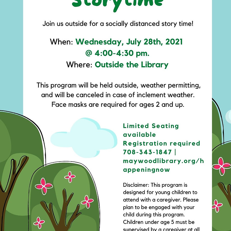 Outdoor Storytime at the MPLD