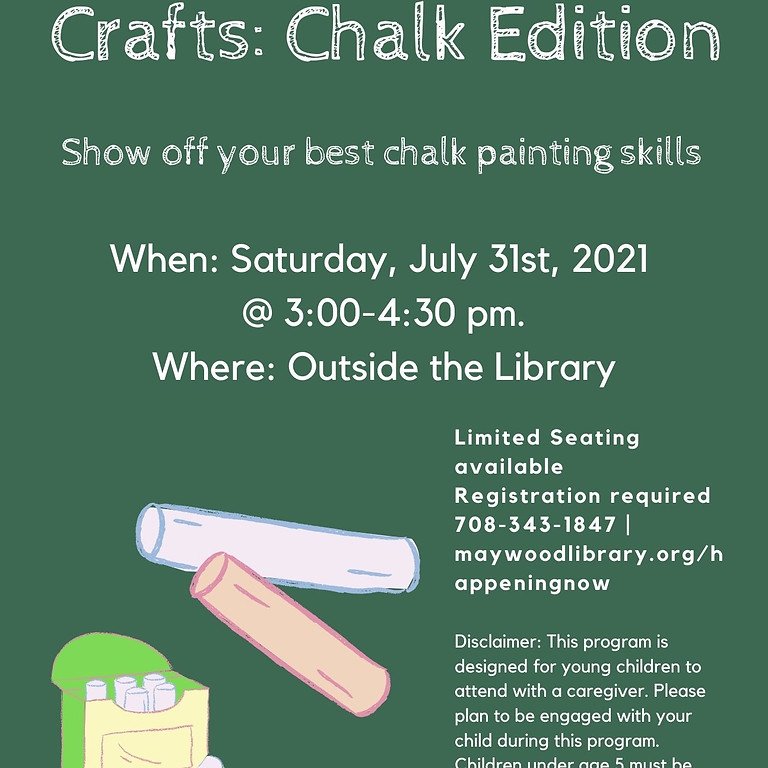 Outdoor Arts and Crafts: Chalk Edition