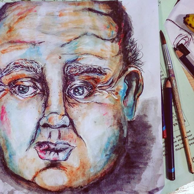 #bristol #artatwork #babyoldmanface #saturdaysketch