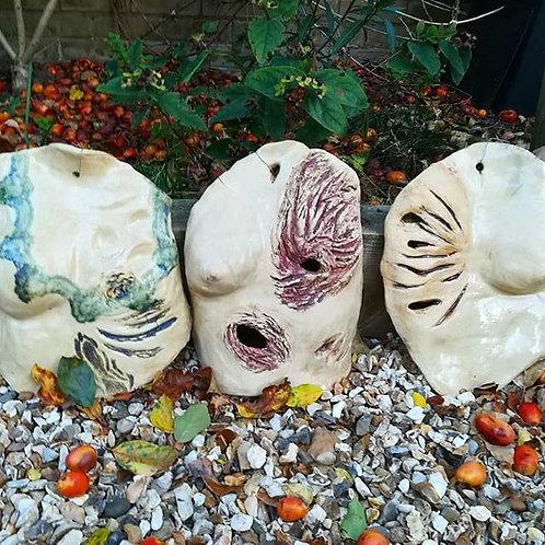 Ceramic Sculptures of Breast Cancer Survivors