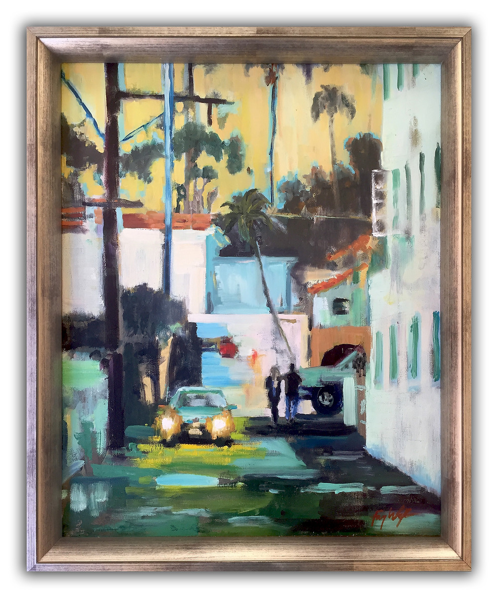 "'High Beams' urban oil paintings 16""x20"""