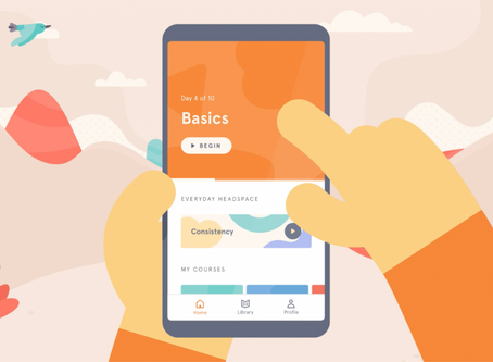 Headspace, an app to de-stress and relax.
