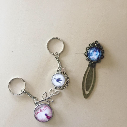 Schlüsselanhänger klein, Metalllesezeichen
