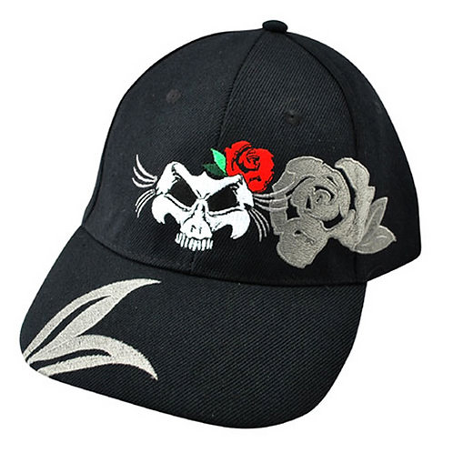ZanHeadgear Lady Skull Embroidered Cap - CPA135