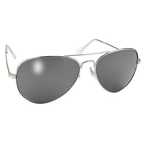 Aviator Mirror Sunglasses - Smoke Lens