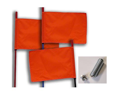 Whip Flag FireSticks Safety Dune Flag with Spring Mount