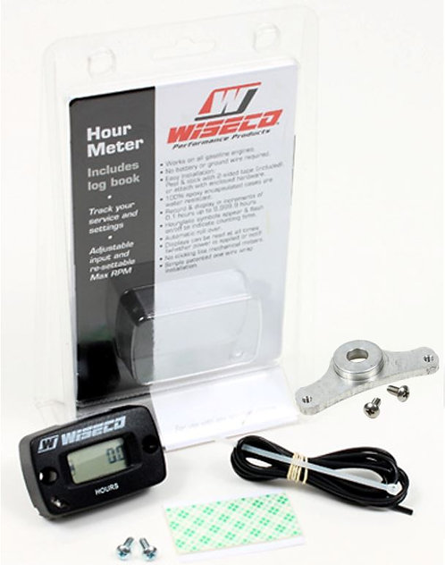 Wiseco - W8063 - Hour Meter with Log Book and Mounting Bracket