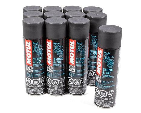 Motul Exterior Protectant - E10 Shine and Go - Aerosol Spray - pack of 12