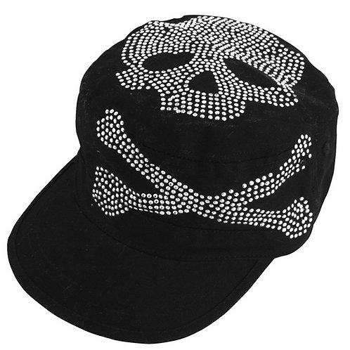 Highway Honey Military Style Cap - CPHH03 - Skull