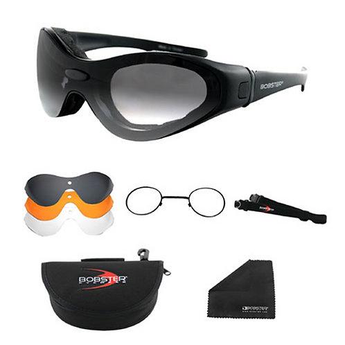 Spektrax Convertible Black Frame Sunglasses with Prescription Insert