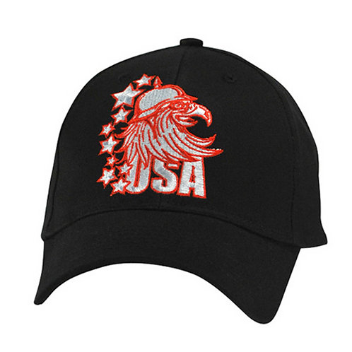 ZanHeadgear Red USA Eagle Embroidered Cap - CPA143