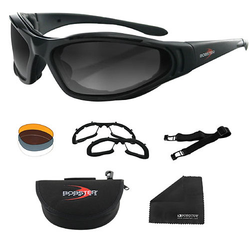 Raptor II Convertible-Interchangeable Black Frame Sunglasses