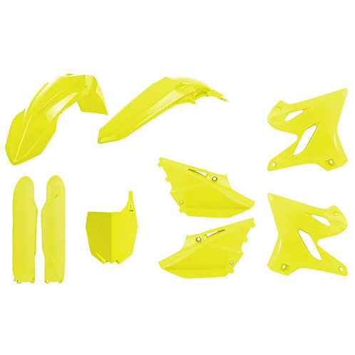 Polisport 90782 Complete Plastics Kit YZ250F YZ450F - Flo Yellow