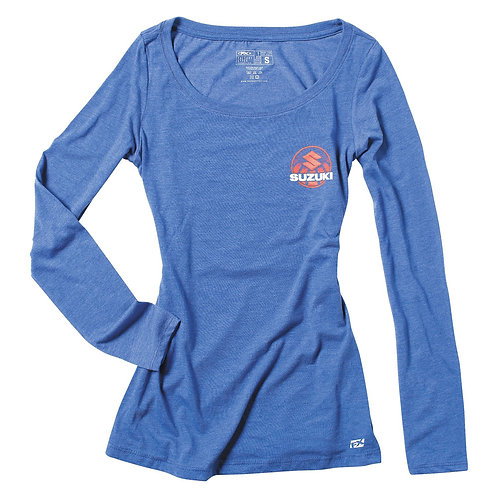 Suzuki Womens Scoop Neck Long Sleeve t-Shirt