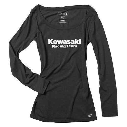 Kawasaki Womens Scoop Neck Long Sleeve t-Shirt