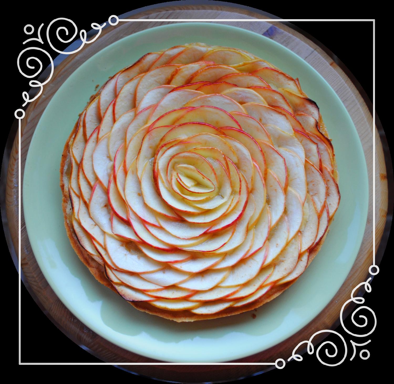 Tarte aux pommes rosace