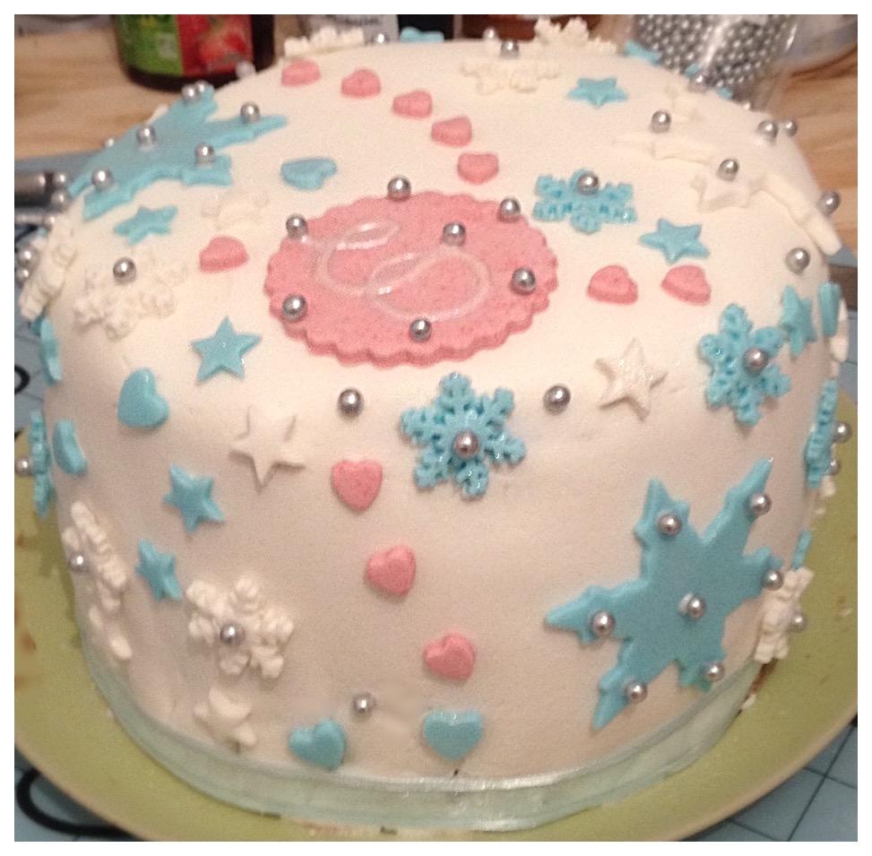 Cake design reine des neiges
