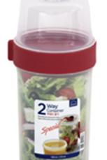 Lock & Lock Twist 2 Way Food Container 730ml+310ml