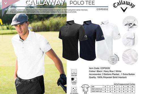 Callaway Polo (Solid Interlock - Polo with Self Fabric Collar)
