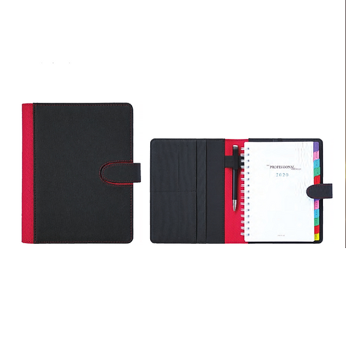 Professional Portfolio Black Textured with PU Cover with Magnetic Clip