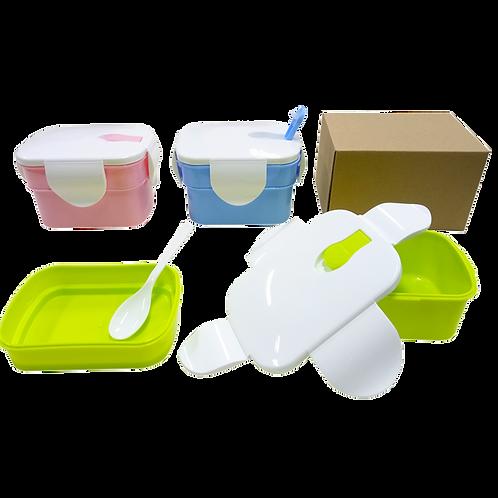 2 Tier Rectangular Lunch Box