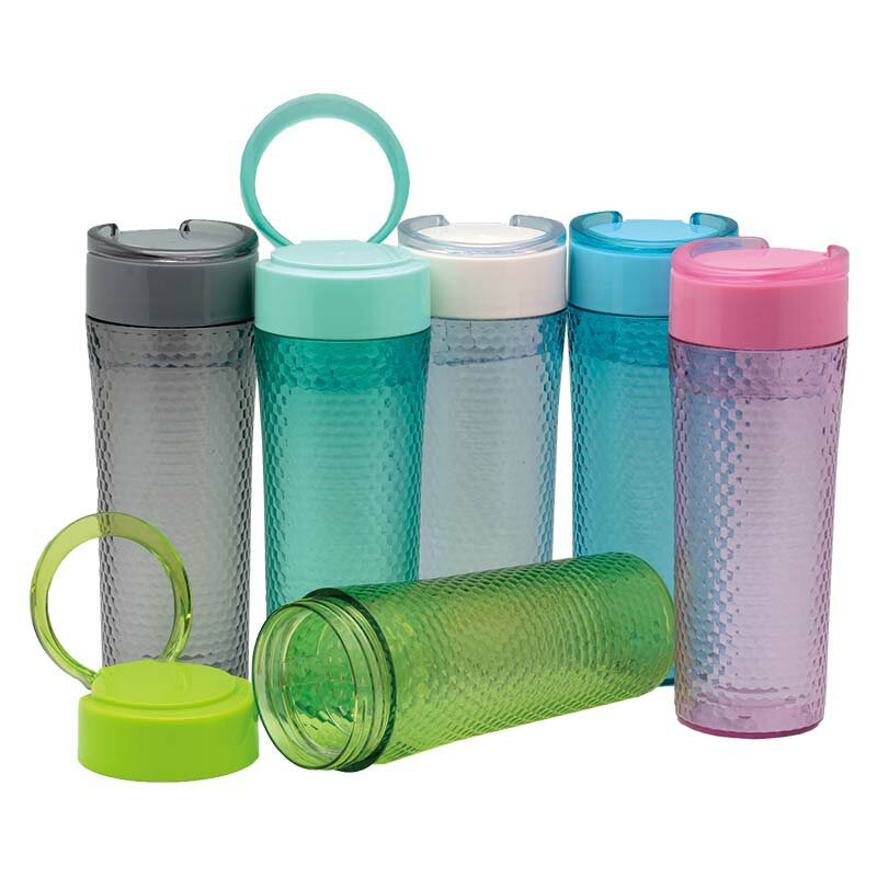 Frosted Tumbler with Strainer