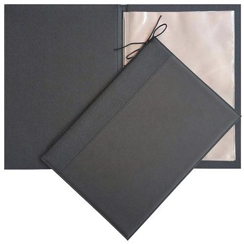 PU Leather Refillable Menu Holder
