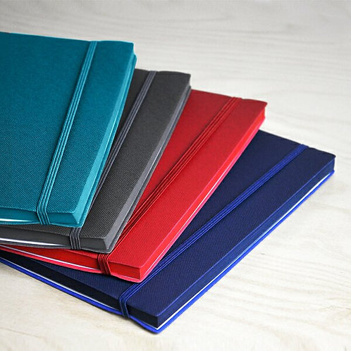 A5 PU Notebook with Matching Colour Elastic Strap