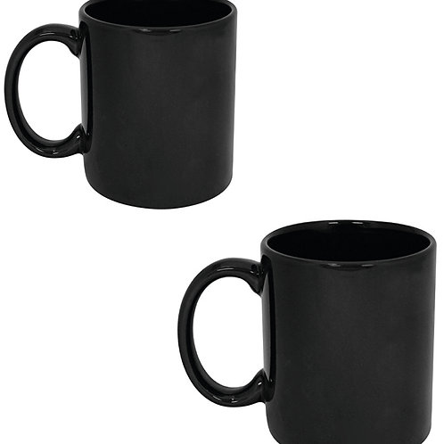 Black Ceramic Mug (325ml)