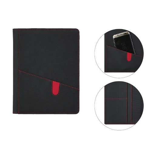 Business Portfolio Textured Black IPU Cover