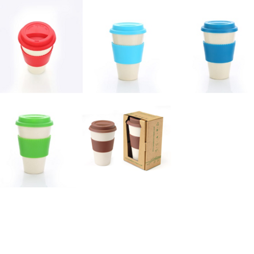 Bamboo Fibre Mug With Lid & Sleeve (350ml)