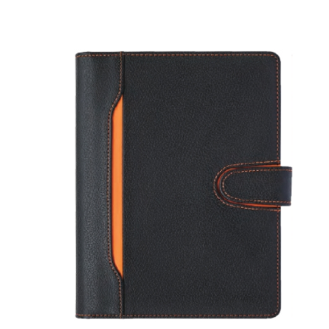 Professional Portfolio Black PU Cover with Zipper& Hardcase Box