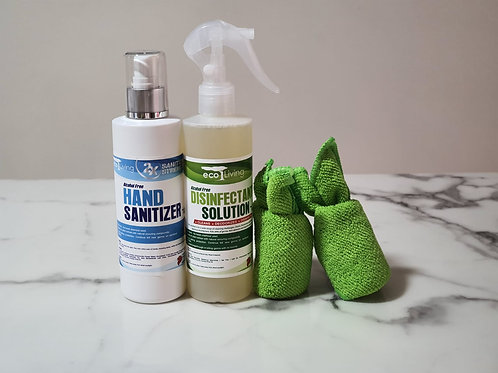 Plant-Based, Non-Toxic Disinfectant Solution + Hand Sanitizer